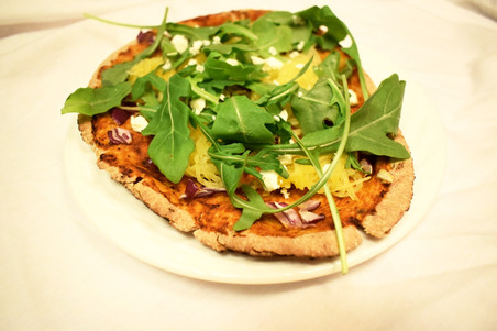 Pita Pizza with Squash & Arugula