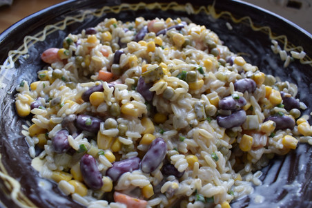 Make This Rice & Bean Salad for an Easy Summer Salad!