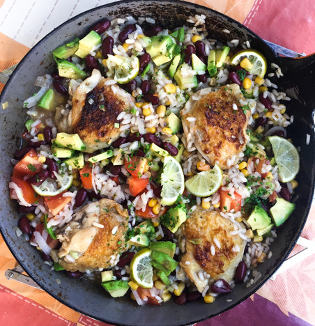 Chicken & Rice Bowl - Only 1 Pan Needed!