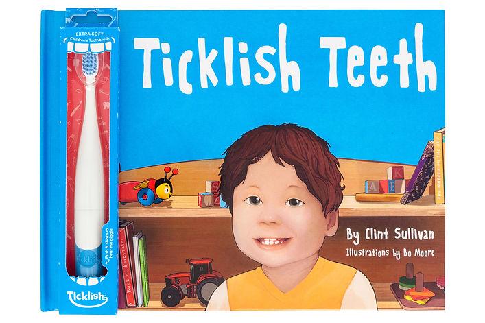 Ticklish Teeth brush and book