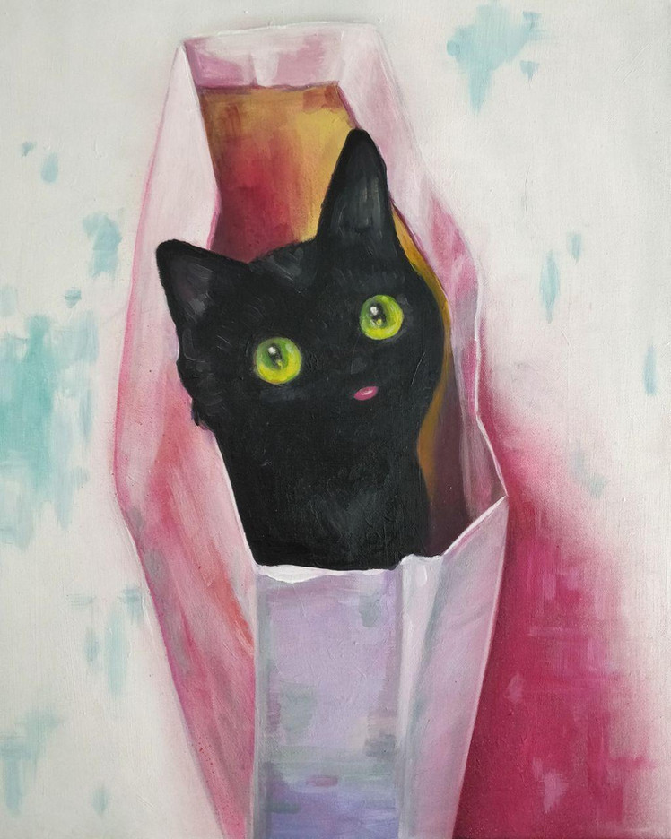 BLEP, it's a cat in a bag