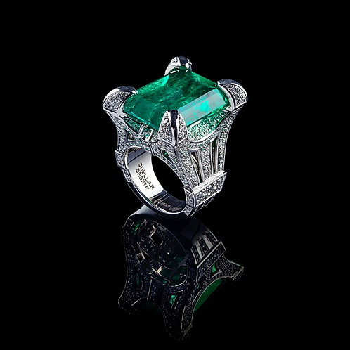 Royal Colombian Emerald Ring