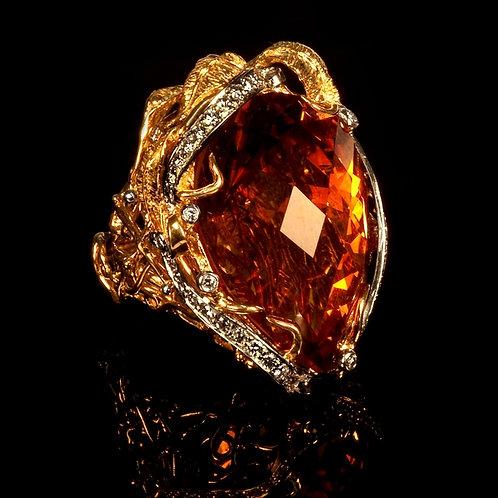 Magnum Madeira Citrine Ring