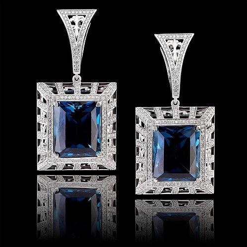 London Blue Quadro Earrings