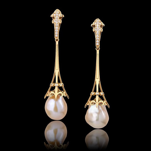 Victorian Pearls Drop Earrings