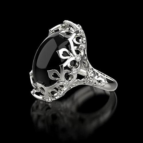 Black Morion Gothic Ring