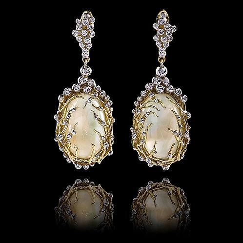 White Moon Topaz Earrings