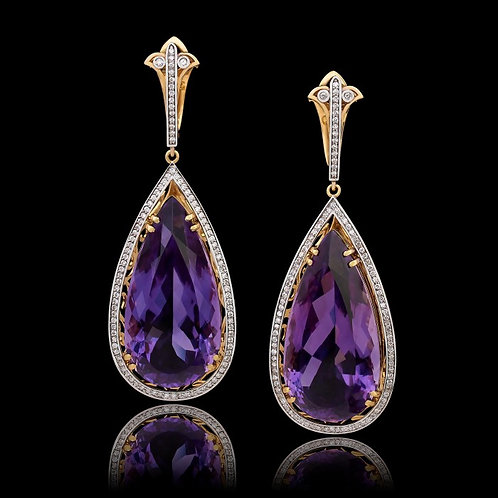 Art Deco Amethyst Earrings