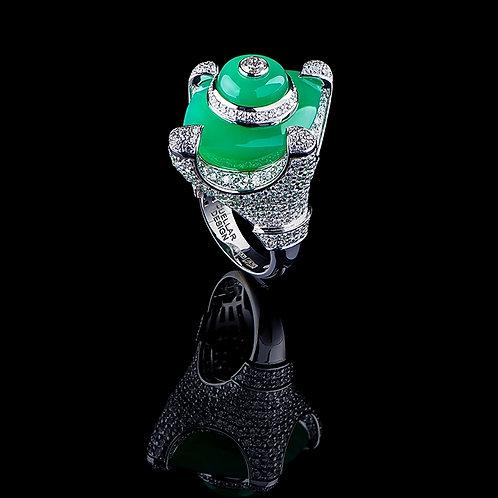 Magnum Crisopraz Coctail Ring
