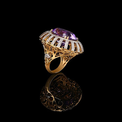 Amethyst Coctail Ring