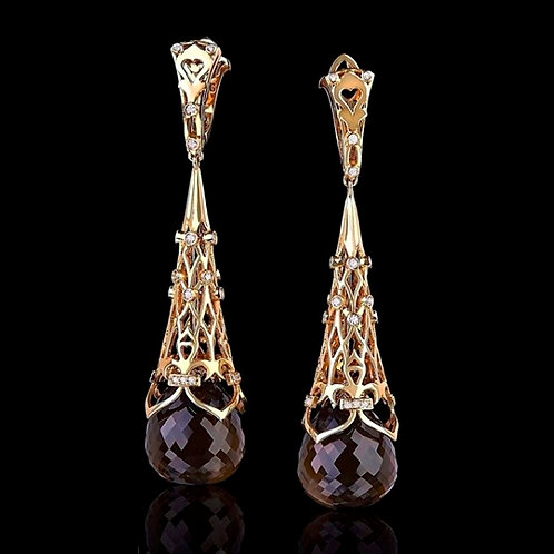 Victorian Rauch Topaz Drop Earrings