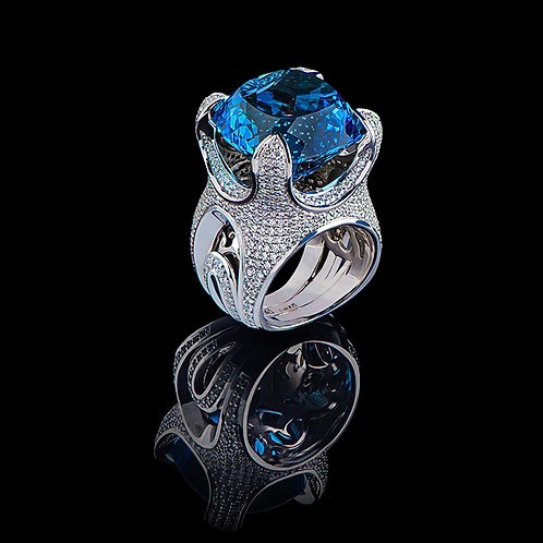 London Blue Immense Coctail Ring