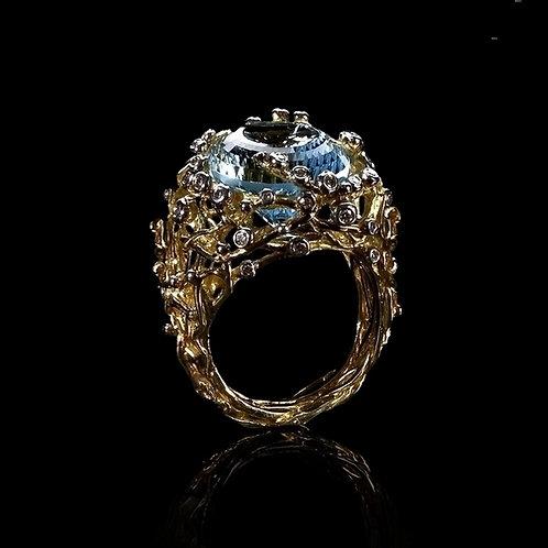 Blue Topaz Nest Ring