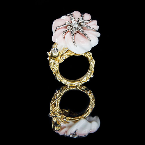 Art Nouveau Cobo Shell Ring