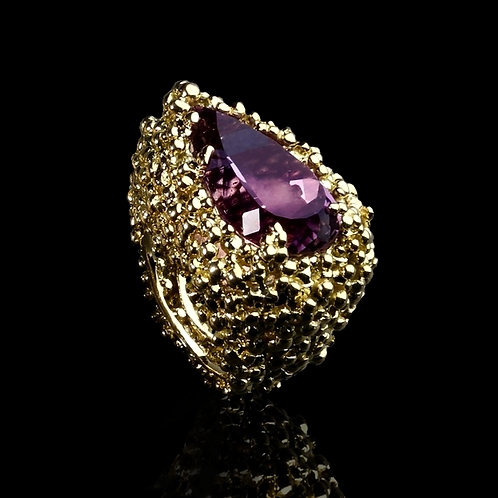 Amethyst Pear Ring