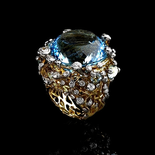 Topaz Dome Cocktail Ring