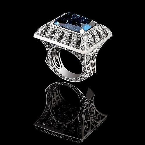London Blue Quadro Ring