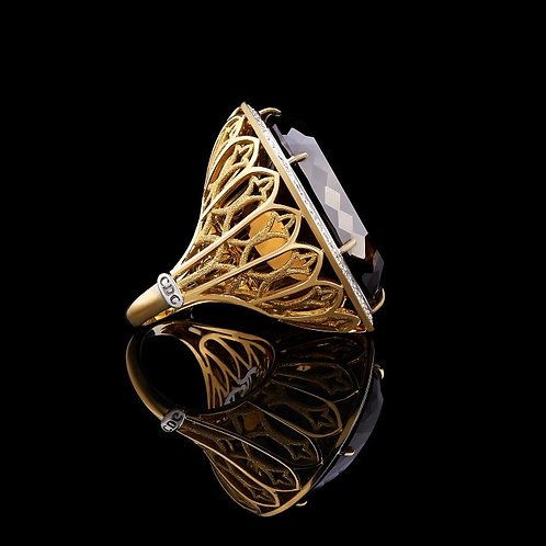 Magnum Rauch Topaz Ring
