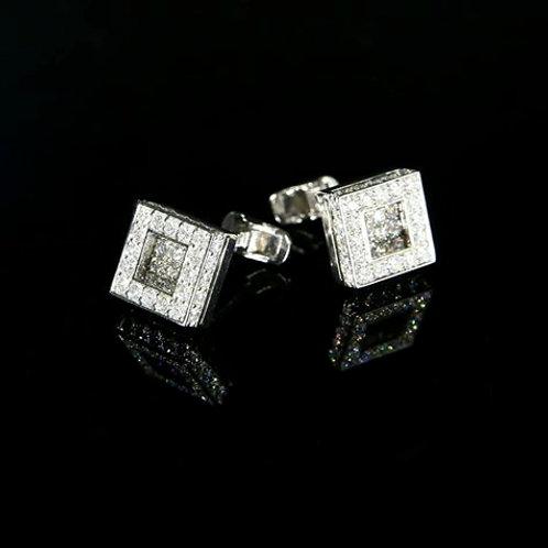 Square Diamond Cufflinks