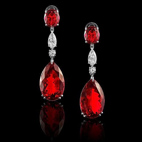 Classic Ruby Drop Earrings