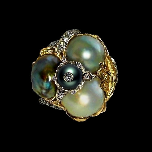 Jardin de Perles Cocktail Ring