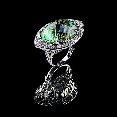 Intense Green Magnum Coctail Ring