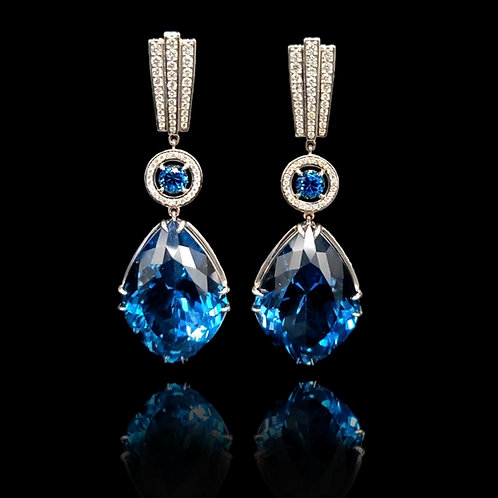 London Blue Classic Earrings