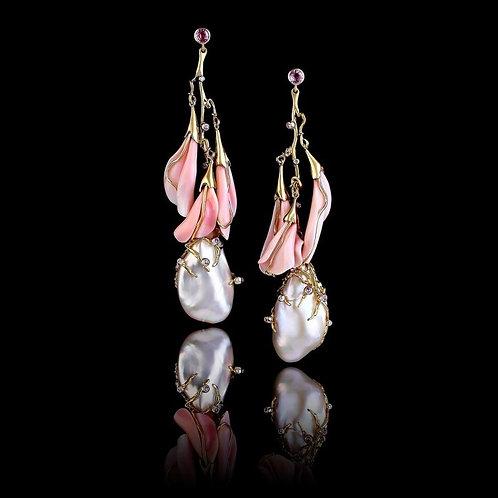 Italian Stucco Pearl Earrings