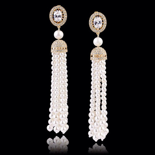 Pearls Thread Earrings
