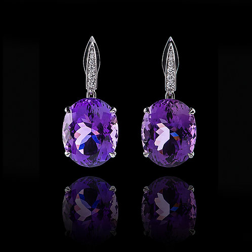 Classic Amethyst Earrings