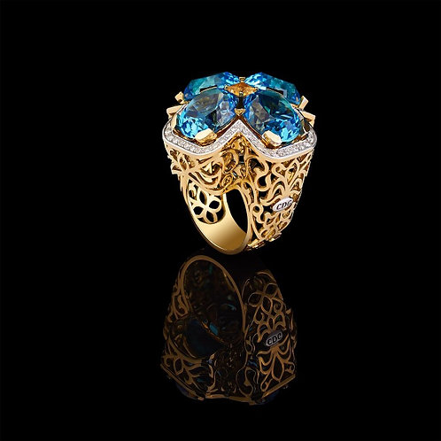 Magnum Royal Blue Topaz Ring