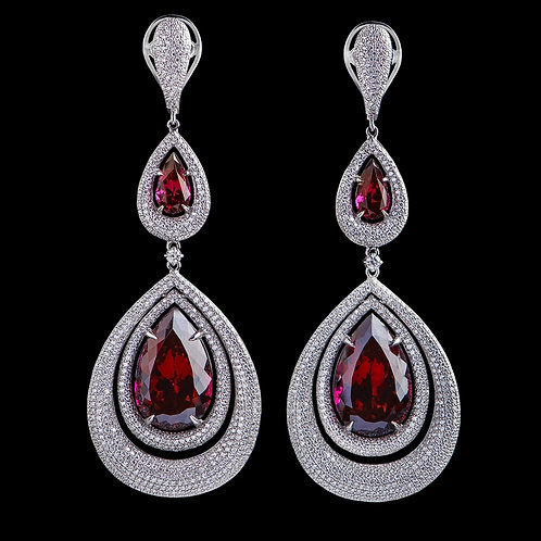 Gala Red Spinel Earrings