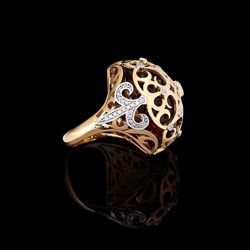 Magnum Gothic Citrine Ring