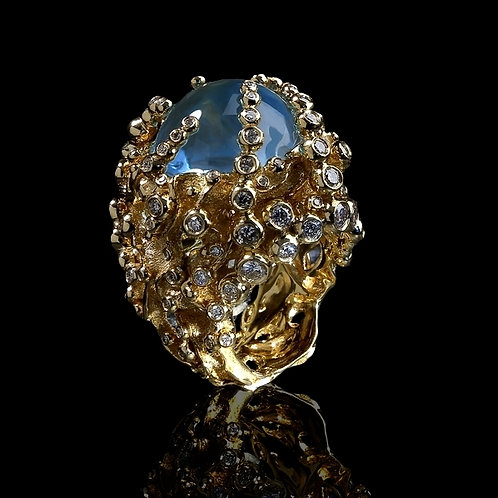 Royal Blue Topaz Nest Ring
