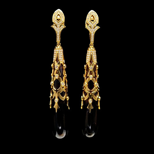 Rauch Topaz Cobachon Drops Earrings