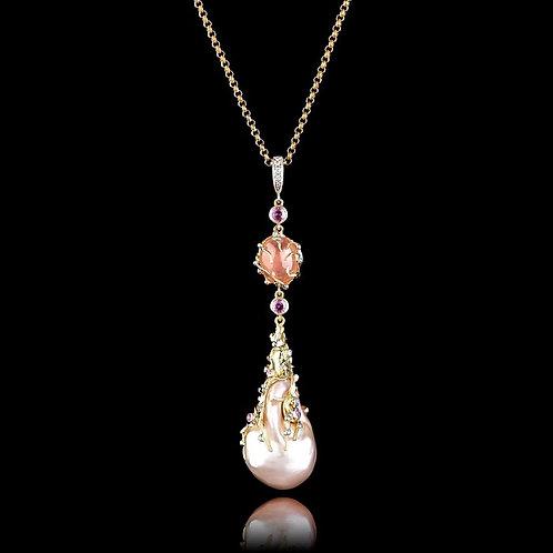 Pearls Duo Art Nouveau Pendant