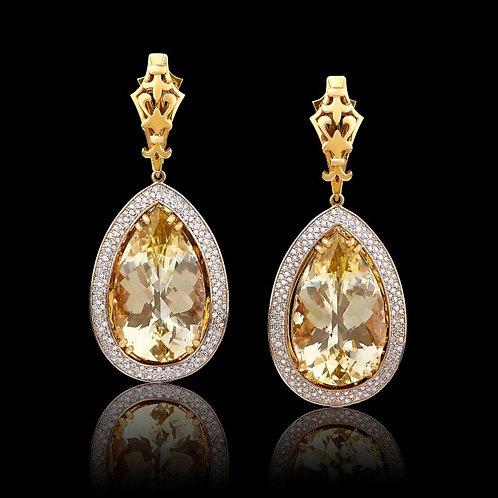 Classic Royal Citrine Earrings