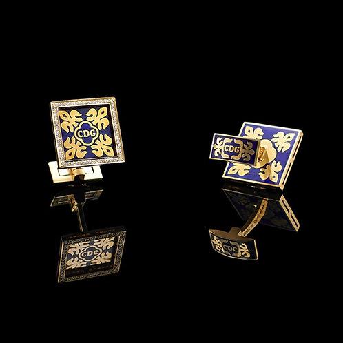 Fleur-de-lis Logo Square Cufflinks