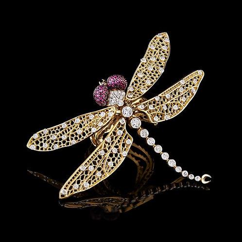 Art Nouveau Dragonfly Ring