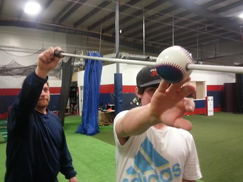 Baseball Pitching Stick Travel  3 foot 3/8 inch