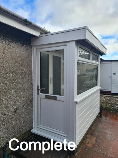 PVC Porch Windows and Door