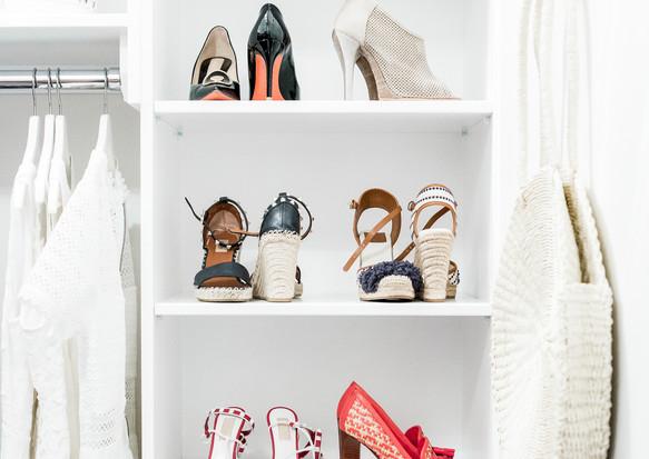 shoes closet organization