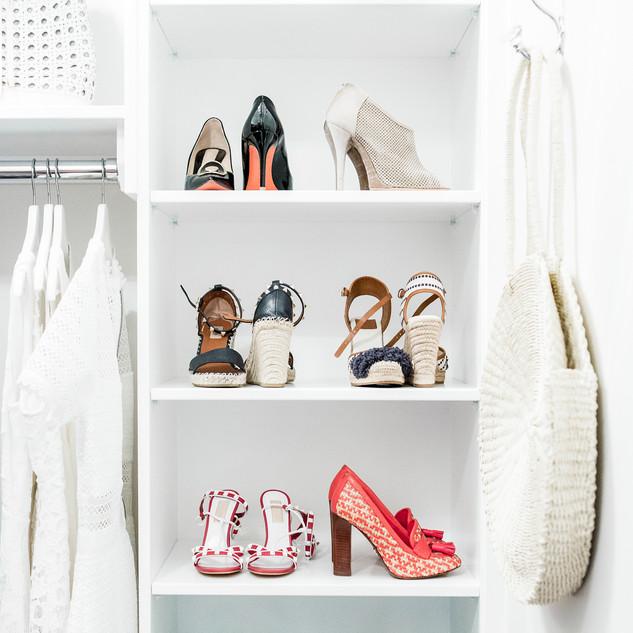 Shoe closet storage system Raleigh NC