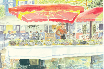 Sausage Vendor in Provence (PC 134)