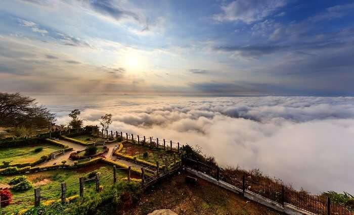 นันดิฮิลส์ Nandi Hills เนินเขาสูงอินเดีย เนินเขาสูงบังกาลอร์
