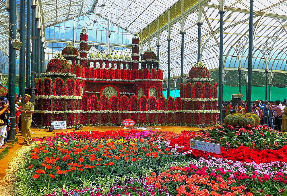 Lalbagh Botanical Garden สวนพฤกษศาสตร์ สวนดอกไม้ สวนดอกไม้อินเดีย สวนดอกไม้บังกาลอร์ สวนพฤกษศนสวยๆอินเดียาสตร์อินเดีย สว