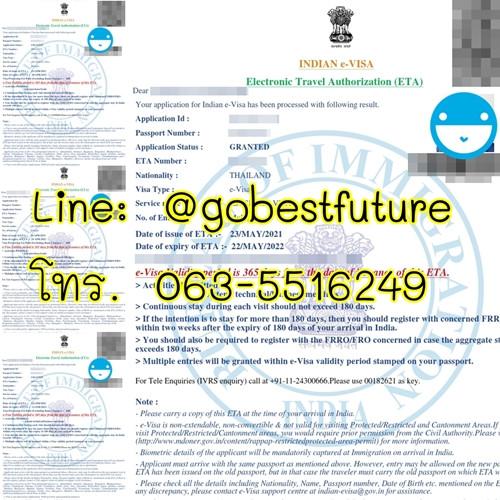 วีซ่าอินเดีย วีซ่าธุรกิจ india e-Business visa