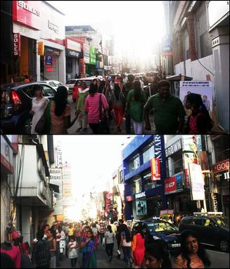 พาเที่ยว Commercial Street @ Bangalore