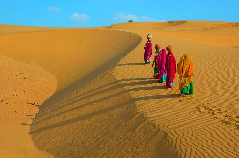 ทะเลทรายที่ Jaisalmer อินเดีย