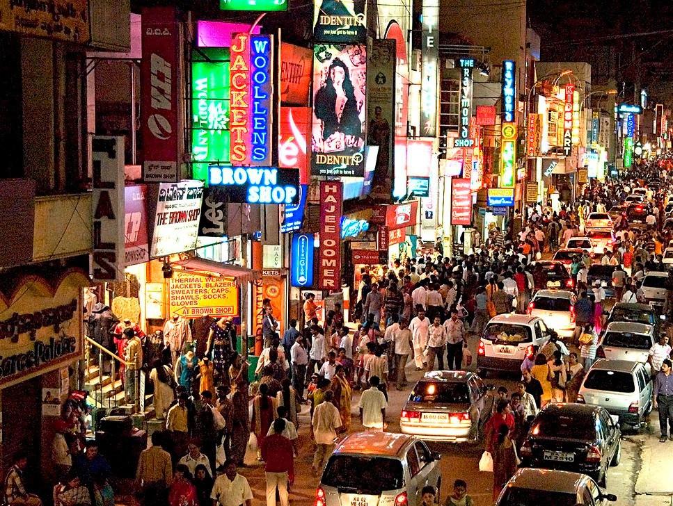 ถนนคนเดิน ช็อปปิ้ง แหล่งเที่ยวอินเดีย บังกาลอร์ เที่ยวบังกาลอร์ ราคาถูก แหล่งท่องเที่ยว แหล่งเสียเงิน